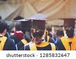 shot of graduation hats during... | Shutterstock . vector #1285832647