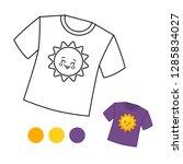 coloring book for children.... | Shutterstock .eps vector #1285834027