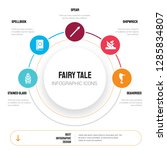 abstract infographics of fairy... | Shutterstock .eps vector #1285834807