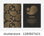 gold vintage greeting card on a ... | Shutterstock .eps vector #1285837621