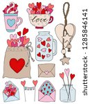 set of hand drawn vector... | Shutterstock .eps vector #1285846141
