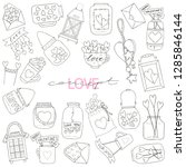 big set of hand drawn vector... | Shutterstock .eps vector #1285846144