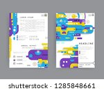 covers templates set with...   Shutterstock .eps vector #1285848661