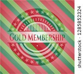 gold membership christmas... | Shutterstock .eps vector #1285852324