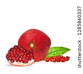 garnet low poly. fresh ... | Shutterstock . vector #1285860337