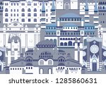 istanbul city colorful vector... | Shutterstock .eps vector #1285860631