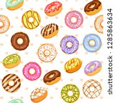 doughnut vector set  colorful... | Shutterstock .eps vector #1285863634