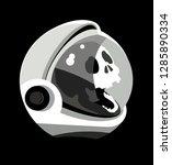 skull in spacesuit  cosmonaut... | Shutterstock .eps vector #1285890334