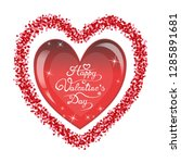 happy valentines day romantic... | Shutterstock .eps vector #1285891681
