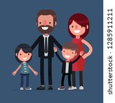 cute family vector illustrator | Shutterstock .eps vector #1285911211