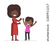 cute family vector illustrator | Shutterstock .eps vector #1285911217