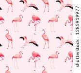 tropical flamingo seamless...   Shutterstock .eps vector #1285919977