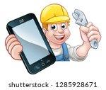 a plumber  mechanic or handyman ... | Shutterstock .eps vector #1285928671