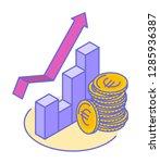 line isometric illustration of... | Shutterstock .eps vector #1285936387