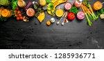summer smoothies of vegetables  ... | Shutterstock . vector #1285936771