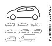 vector car icon set | Shutterstock .eps vector #128593829