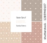 set of vector pastel vintage... | Shutterstock .eps vector #1285940107