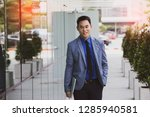 asian businessman casual... | Shutterstock . vector #1285940581