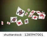 casino playing cards are... | Shutterstock .eps vector #1285947001