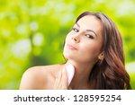 portrait of happy smiling... | Shutterstock . vector #128595254