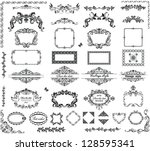 vintage frames and headers | Shutterstock .eps vector #128595341