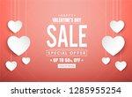 happy valentine's day banner... | Shutterstock .eps vector #1285955254