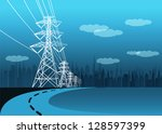 Vector Landscape High Voltage...
