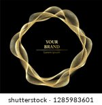 golden brand design. abstract... | Shutterstock .eps vector #1285983601
