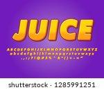 gradient juice alphabet design... | Shutterstock .eps vector #1285991251