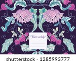 stylized ornamental flowers in... | Shutterstock .eps vector #1285993777