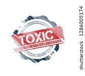 grunge label with toxic text... | Shutterstock .eps vector #1286005174