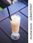 latte macchiato in an open air...   Shutterstock . vector #1286019007