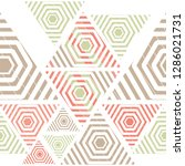 geometric pattern grid  stripe  ... | Shutterstock .eps vector #1286021731