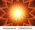 vector mandala card.mandala... | Shutterstock .eps vector #1286023141