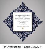 wedding invitation or greeting... | Shutterstock .eps vector #1286025274