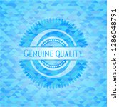 genuine quality sky blue emblem ... | Shutterstock .eps vector #1286048791