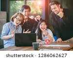 asian freelance teamwork... | Shutterstock . vector #1286062627
