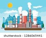 factory building. industrial... | Shutterstock .eps vector #1286065441