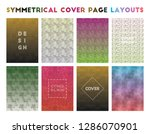 symmetrical cover page layouts. ... | Shutterstock .eps vector #1286070901