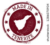 made in tenerife stamp. grunge... | Shutterstock .eps vector #1286070934