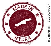 made in hydra stamp. grunge... | Shutterstock .eps vector #1286070937