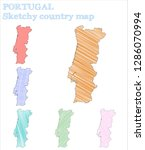 portugal sketchy country. alive ... | Shutterstock .eps vector #1286070994