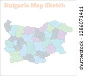 bulgaria map. hand drawn... | Shutterstock .eps vector #1286071411