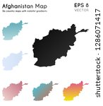 map of afghanistan with... | Shutterstock .eps vector #1286071417
