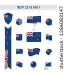 new zealand flat flag... | Shutterstock .eps vector #1286083147