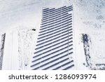 solar power plant  winter view | Shutterstock . vector #1286093974