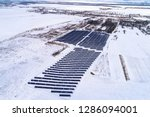 solar power plant  winter view | Shutterstock . vector #1286094001
