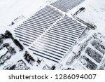 solar power plant  winter view | Shutterstock . vector #1286094007