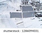 solar power plant  winter view | Shutterstock . vector #1286094031