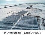 solar power plant  winter view | Shutterstock . vector #1286094037